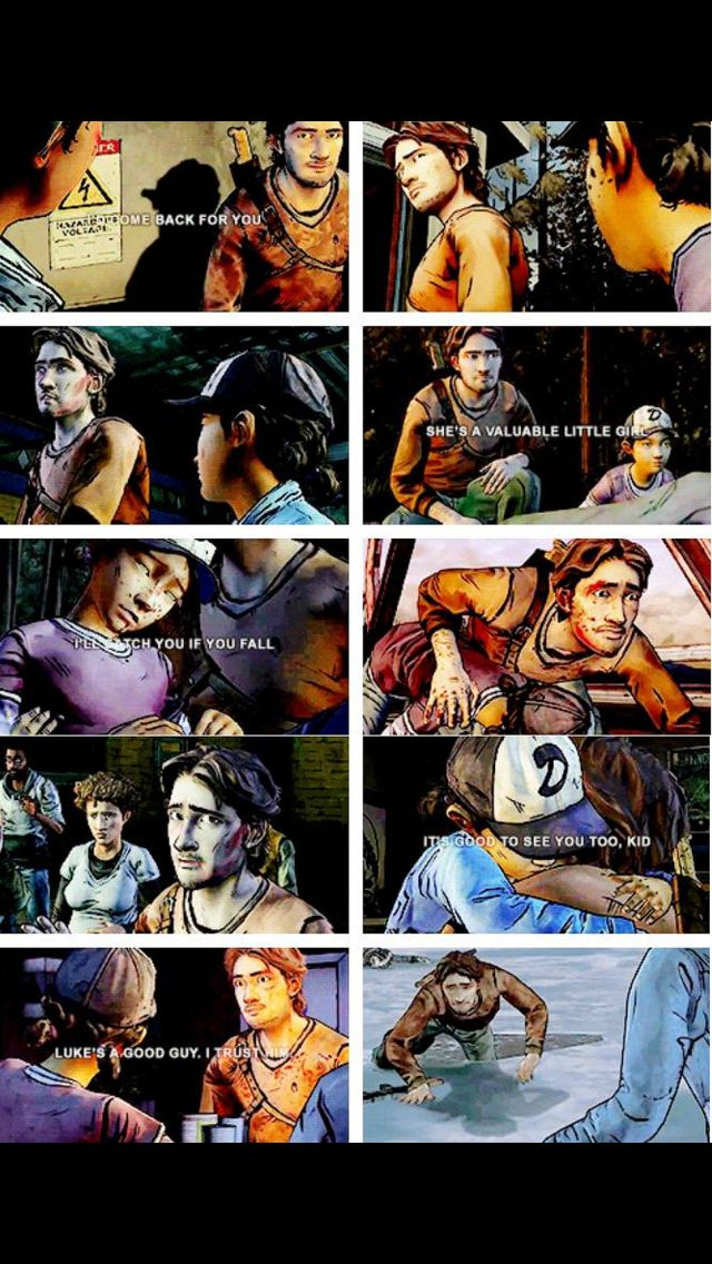 Luke and Clementine quotes from twdg season 2 | The Walking Dead (Telltale Game) pictures