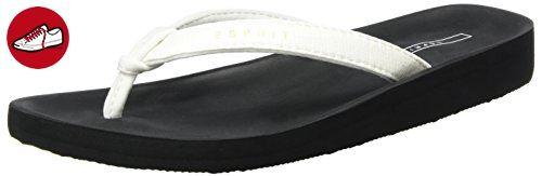 ESPRIT Damen Francis Dreamer Zehentrenner, Weiß (100 White), 39 EU - Esprit schuhe (*Partner-Link)