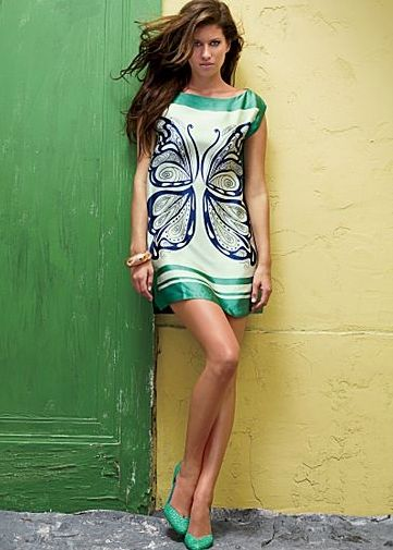 Butterfly Dress by Venus | Venus Butterfly Silk Dress