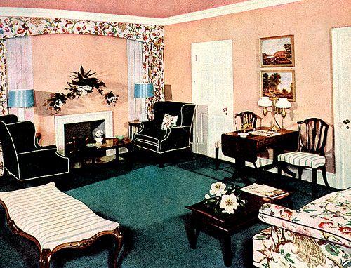 102 Best 1940s Living Room Images On Pinterest
