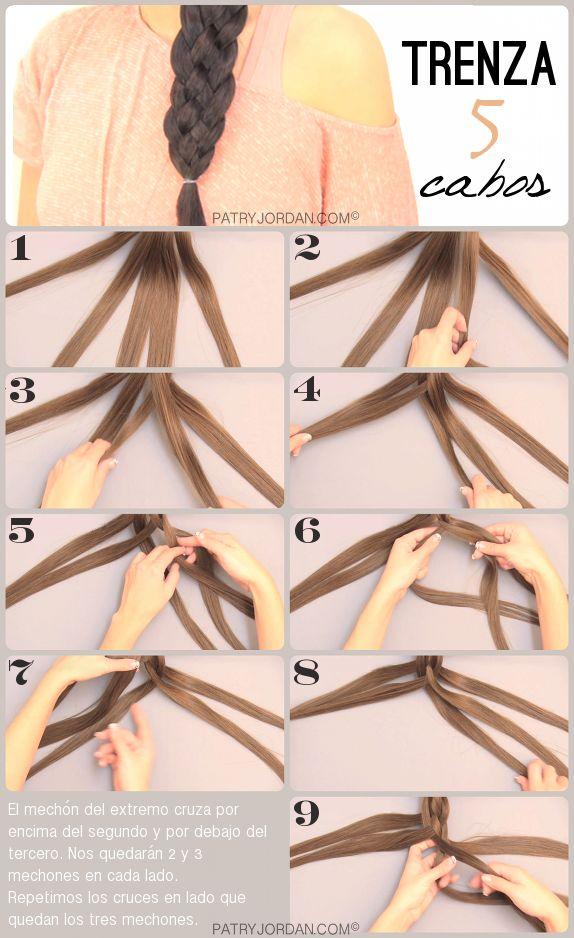 DIY: Trenza de 5 cabos. Hazlo tu misma siguiendo los pasos. Es más fácil de lo que parece. Inténtalo y lo conseguirás.