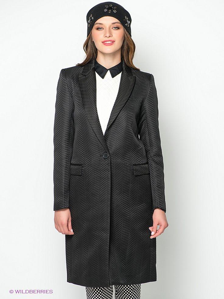 Пальто Kira Plastinina. Цвет черный.