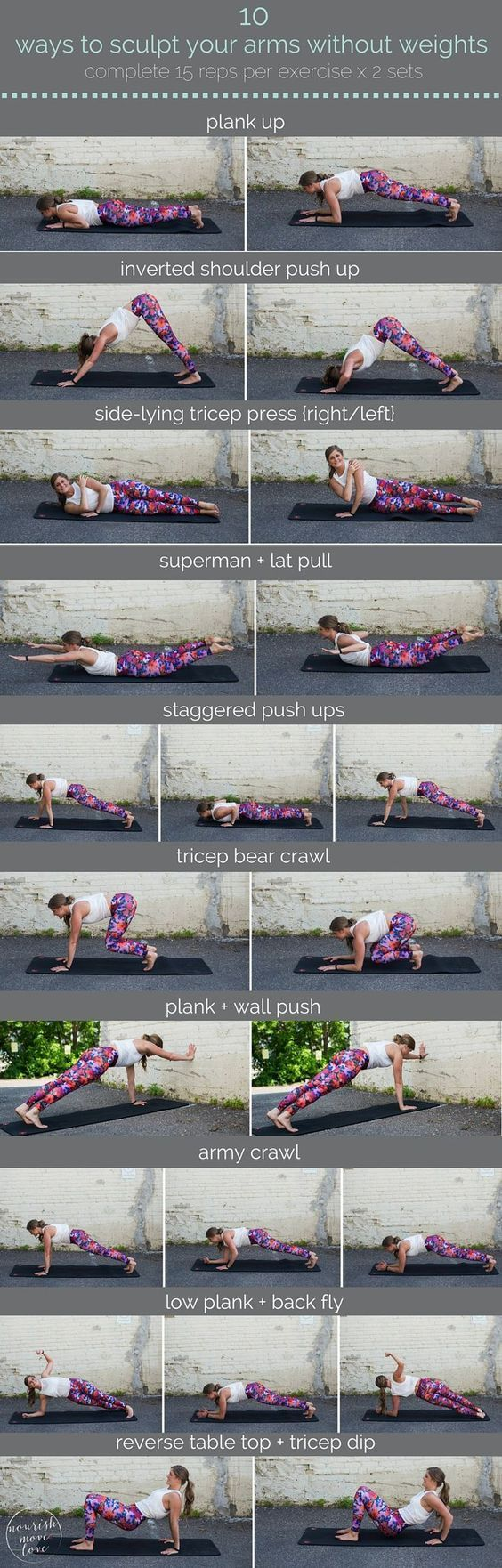 DownDog Yoga Poses for Fun & Fitness: 10 ways to sculpt your arms without weights