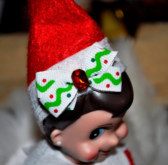 Elf on the Shelf. Girl Elf Hair Bow Headband!