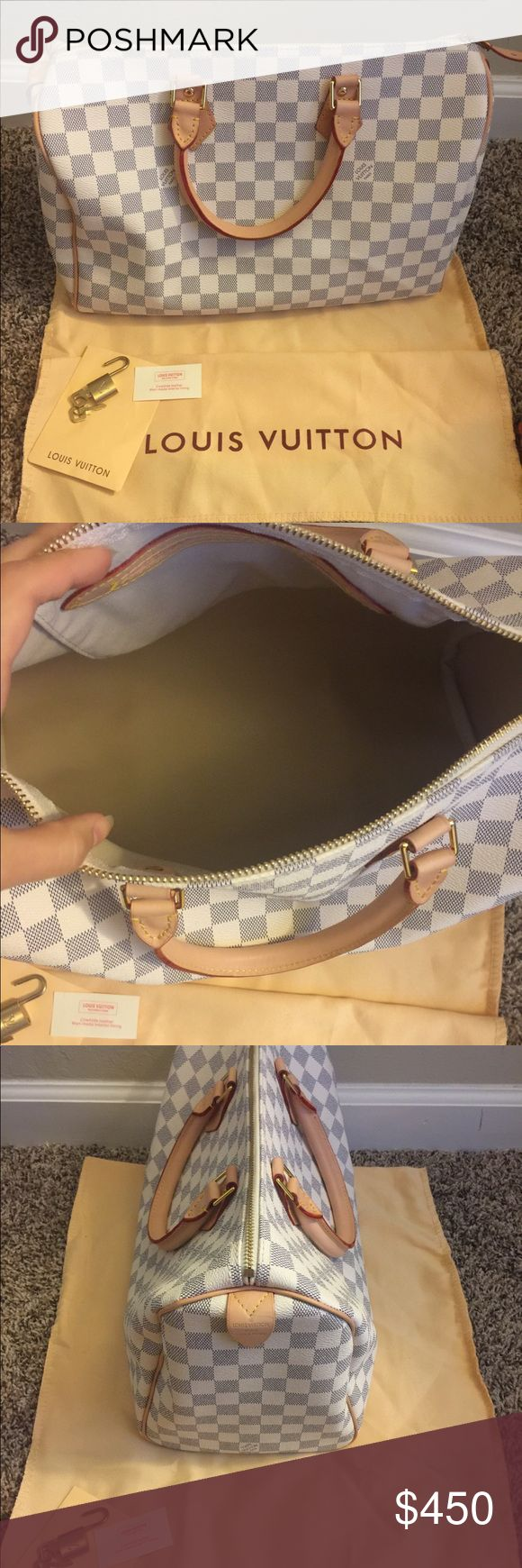 Authentic Louis Vuitton speedy 35 BRAND NEW !! Only used once ! It's a perfect everyday bag , with tons of storage ! 600$ obo Louis Vuitton Bags Shoulder Bags