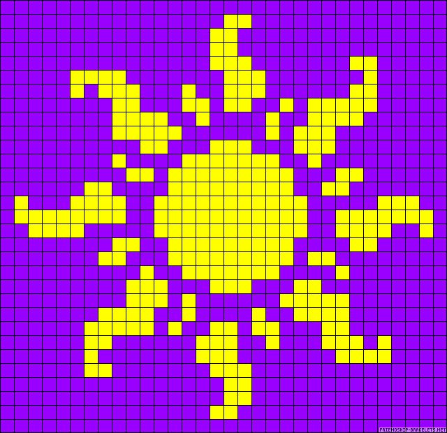 Disney Tangled Sun perler bead pattern