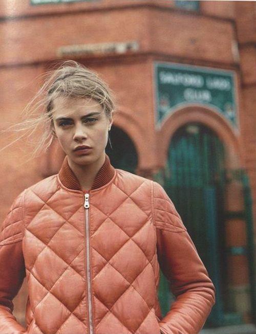 Women Jackets, Winter Style, Fall Coats, Delevingne Face, Bomber Jackets, Caradelevingne, Purple Fashion, Fashion Fall, Fashion Magazines