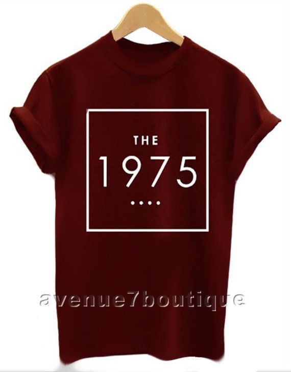 The 1975 shirt the 1975 band t-shirt black white maroon on Etsy, $12.56