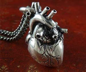 Anatomical 3D Heart Necklace