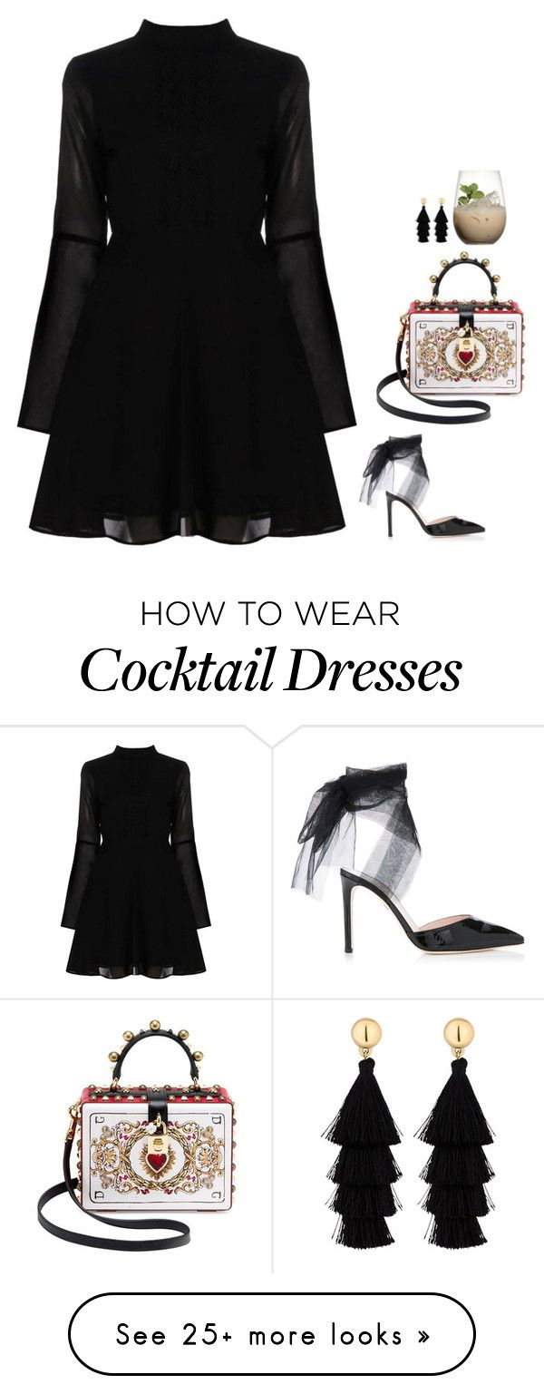 """#6775"" by azaliyan on Polyvore featuring Boohoo, Dolce&Gabbana, Red Herring and Margarita"