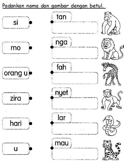 BAHASA MALAYSIA PRASEKOLAH: Latihan Haiwan Liar