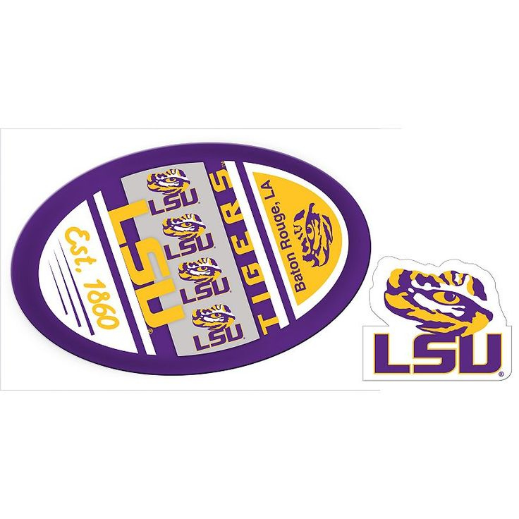 LSU Tigers Game Day Decal Set, Multicolor