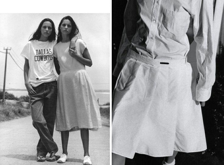 1998 Фото Брюса Вебера для итальянского Vogue, май;  и фото Марио Тестино для Vogue