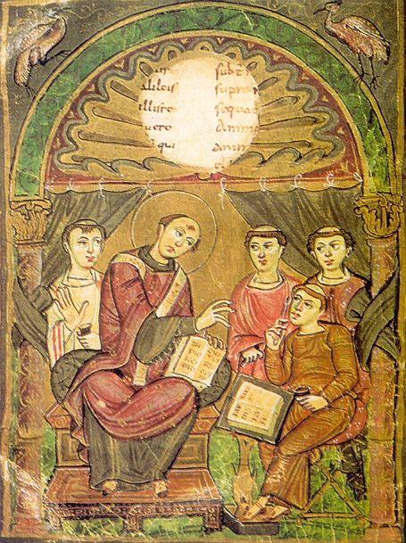 Sant'Agostino detta ai diaconi nel Codice di Eginone
