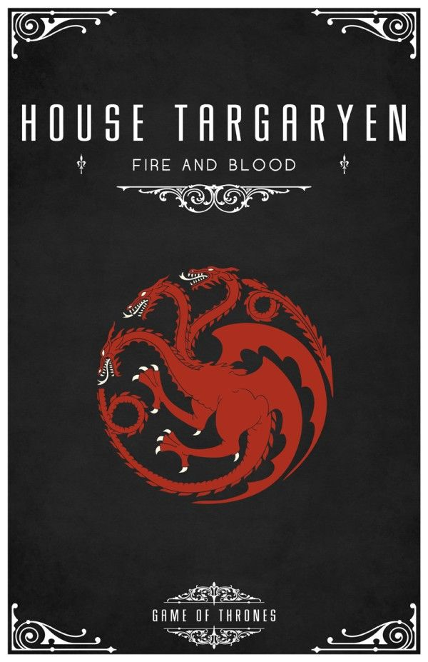 Affiches minimalistes pour Game of Thrones