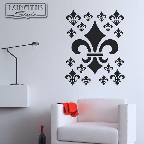 Wandtattoo Fleur De Lis Französische Lilie - WE60 von Lunatik-Style via dawanda.com