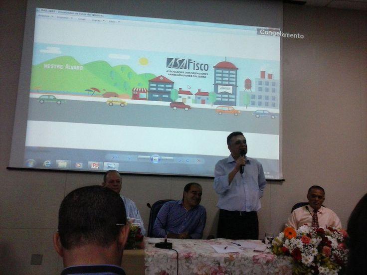 03/07/2015 - Audifax Barcelos, Prefeito de Serra, ES, dá à categoria a notícia do reconhecimento do nível superior, durante evento em comemoração ao Dia do Fiscal Municipal