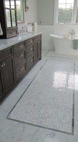 traditional bathroom tile | Traditional Bathroom Tile | tile   trim makes the tiles look like a rug