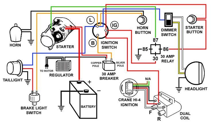 Harley Davidson Shovelhead Wiring    Diagram      Electrical Concepts   Pinterest   Harley davidson
