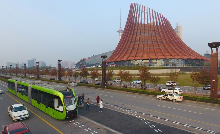 """""""World's first"""" driverless, trackless train is launched in China"""