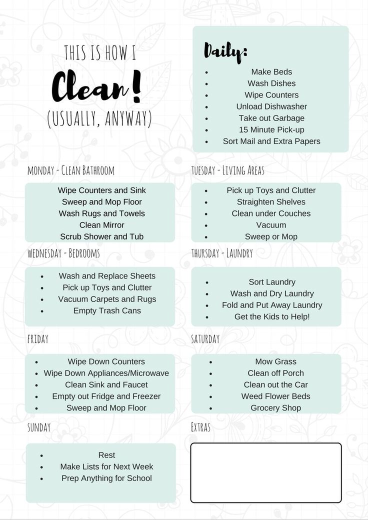 best 25  daily cleaning schedules ideas on pinterest