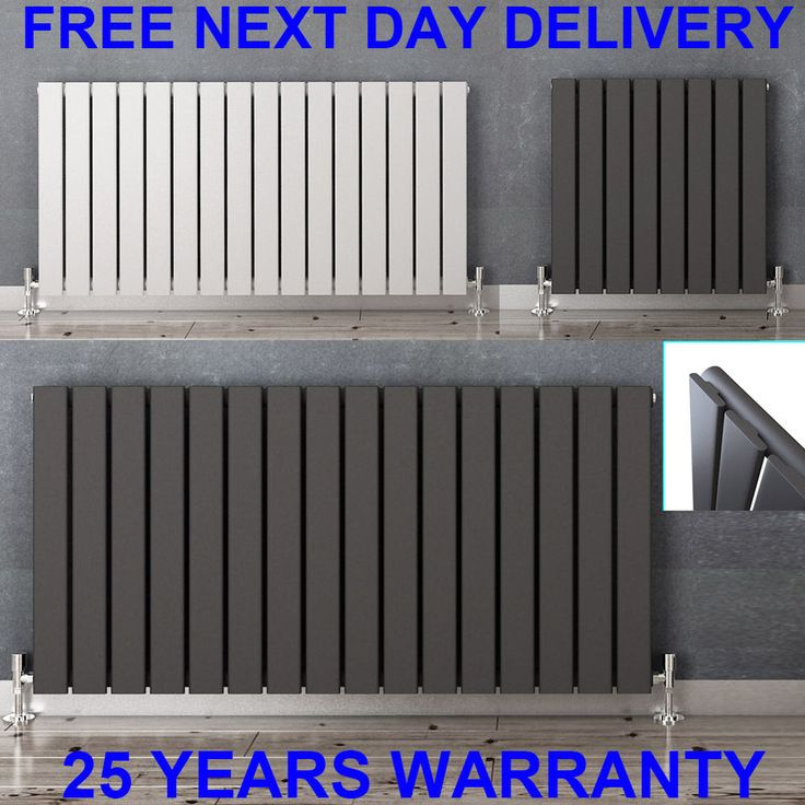 Horizontal Designer Flat Panel Radiators Modern Columns Central Heating Rads | eBay                                                                                                                                                                                 More