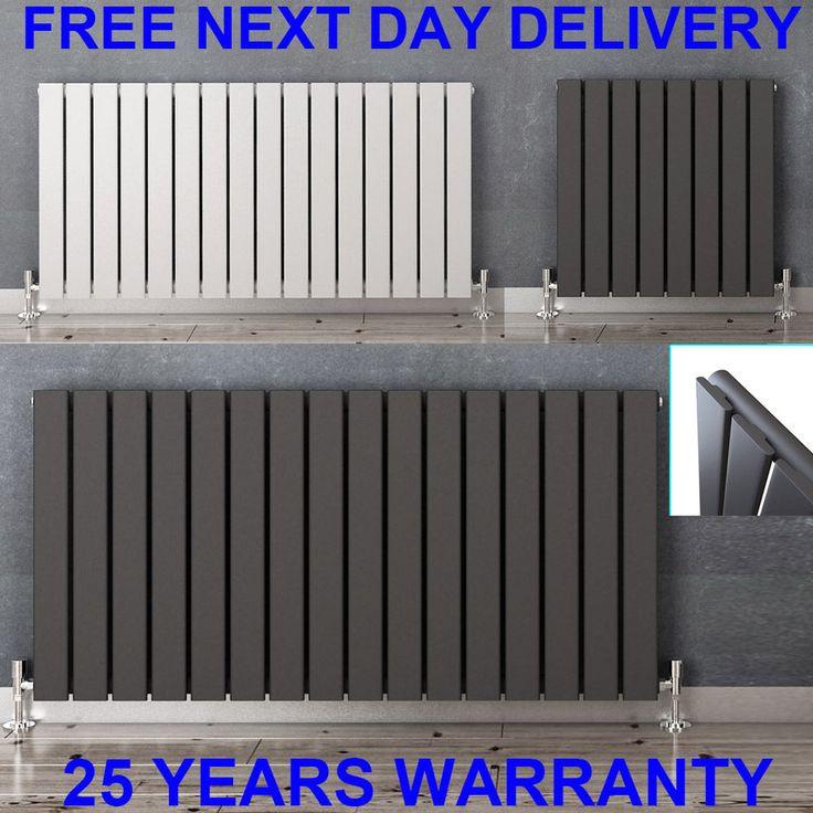 Horizontal Designer Flat Panel Radiators Modern Columns Central Heating Rads | eBay