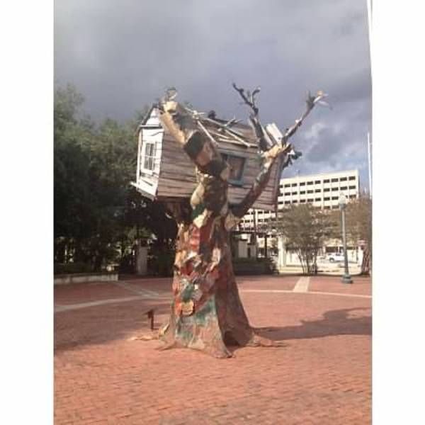 Check out this slideshow Hurricane Katrina Sculpture in this list 12 Must-Do Experiences in New Orleans