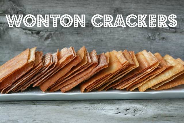 Homemade wonton #crackers #recipe. Insanely easy & cheap to make. Serve them with your favorite hot dip or make them into Asian-style nachos. Please repin!
