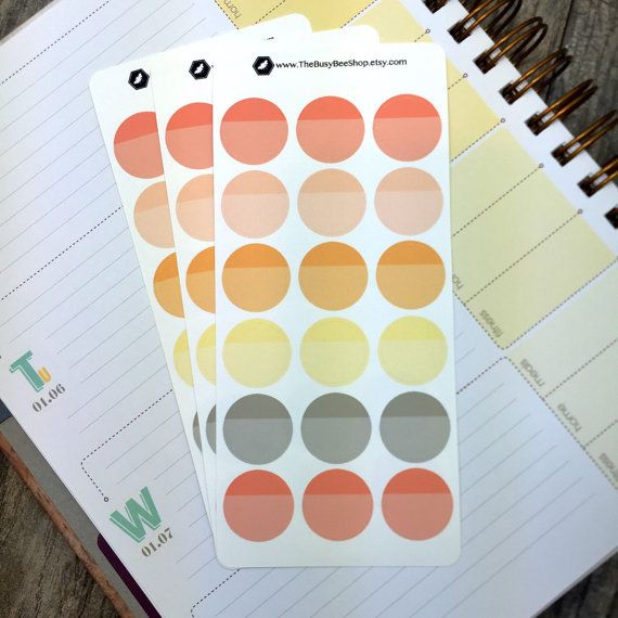 These Inkwell Press Dreamsicle Two Tone Planner Circles From The Busy Bee  Shop Are Perfect For