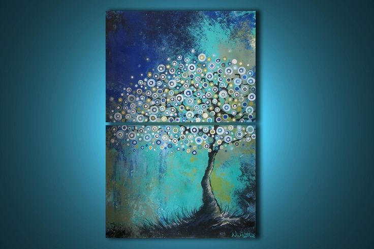Acrylic painting projects 36 x 24 decor modern for Diy abstract acrylic painting