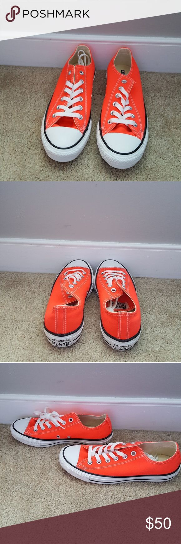 Converse Brand new neon orange converse Converse Shoes Sneakers
