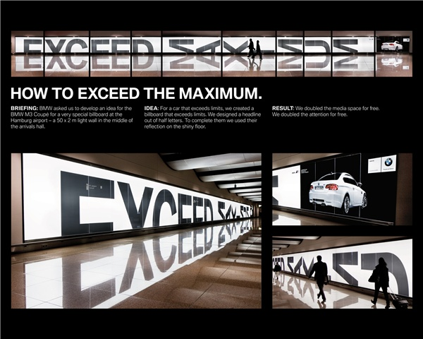"Bronze - Creative Use of Traditional Advertising formats - The BMW Light Wall ""Reflection"", BMW AG Deuschland, Serviceplan"