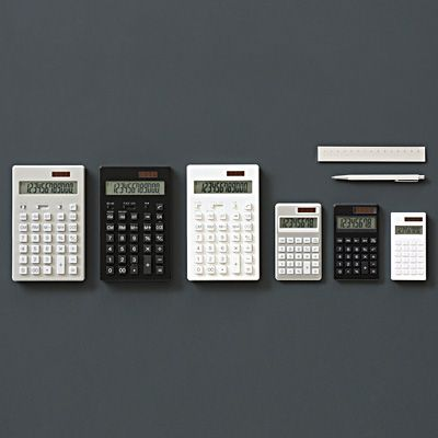 Calculator, large 12-digit-white | Muji net store