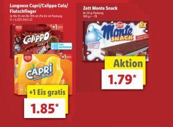 Lidl: Langnese Capri, Calippo Cola und Flutschfinger zum Schnäppchenpreis https://www.discountfan.de/artikel/essen_und_trinken/lidl-langnese-capri-calippo-cola-und-flutschfinger-zum-schnaeppchenpreis.php Markeneis zum Mini-Preis: Bei Lidl sind am kommenden Samstag Langnese Capri, Calippo Cola und Flutschfinger für 1,85 Euro zu haben – pro Packung ist ein Gratis-Eis enthalten. Lidl: Langnese Capri, Calippo Cola und Flutschfinger zum Schnäppchenpreis (Bild: Lidl.de)