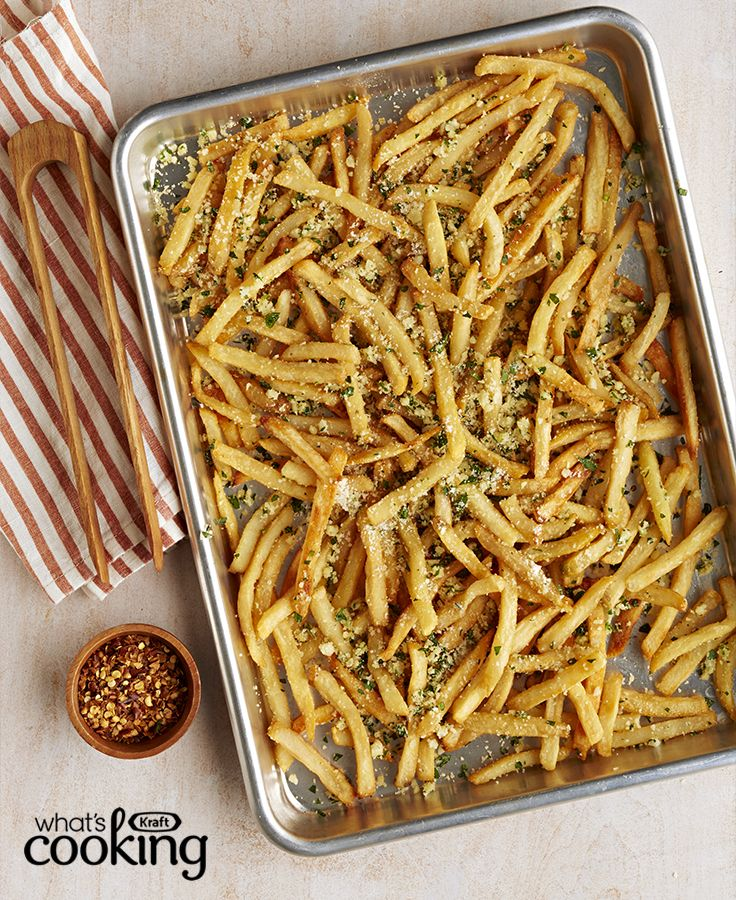 Garlic-Parmesan Fries #recipe