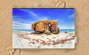 The Sentry, Two Rocks Carry-All Pouch design by Dave Catley featuring Southerly…