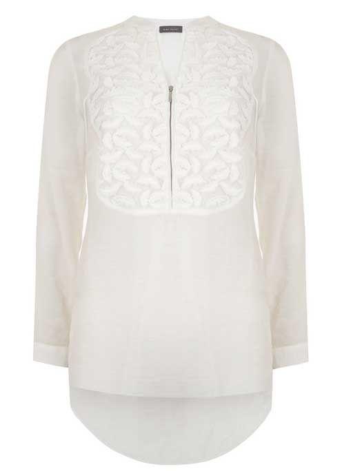 Ivory Bib Shirt