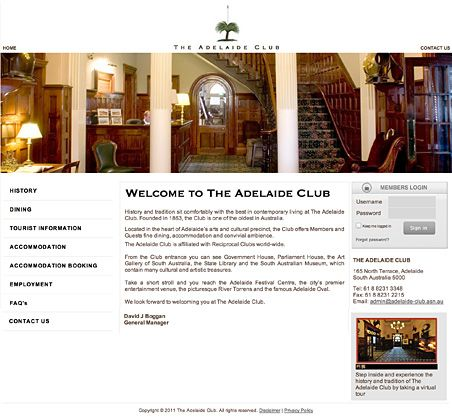 Membership System & Website: The Adelaide Club
