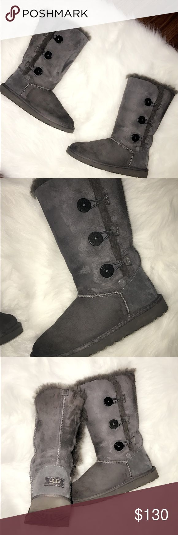 Uggs In perfect condition used them only twice ! These uggs are big kids uggs size 4 ! If you are 6/5 women these would fit you ! No trades I am open to offers ! 100 percent Authentic ! I have the box and everything ! Got it from the ugg store at the Glendale AMERICANA ! UGG Shoes Winter & Rain Boots