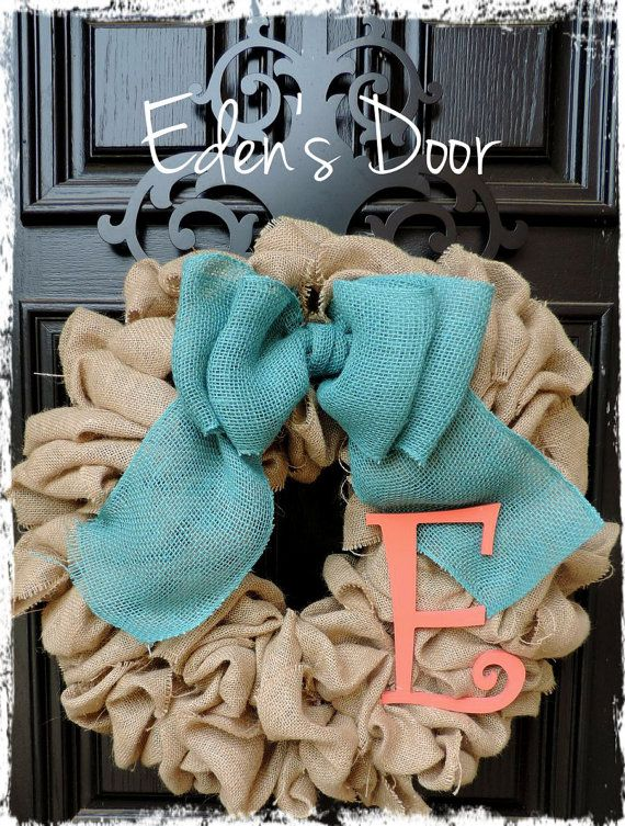 Burlap Wreath  Etsy Wreath  Wreath  Wreaths for door  by EdensDoor
