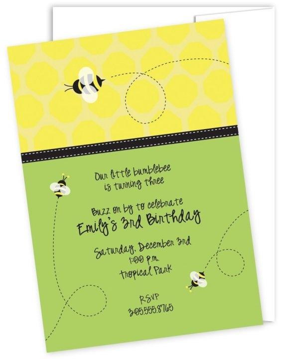 Bee Party Invite Idea