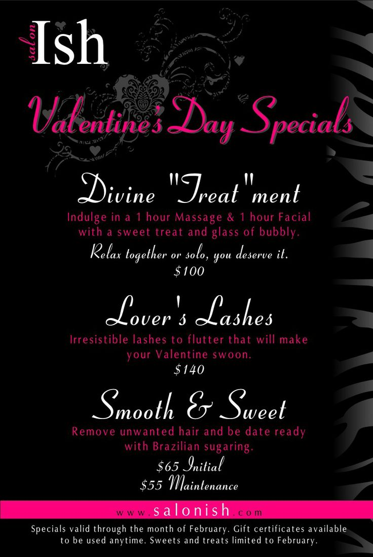 Valentines Special at Salon Ish in Puyallup, WA