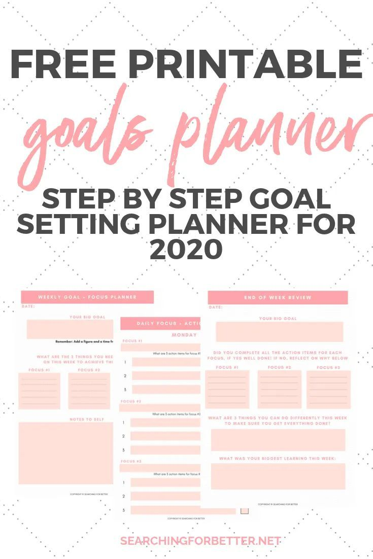 Free Printable Goal Planner For 2020 Goal Planner Printable Free