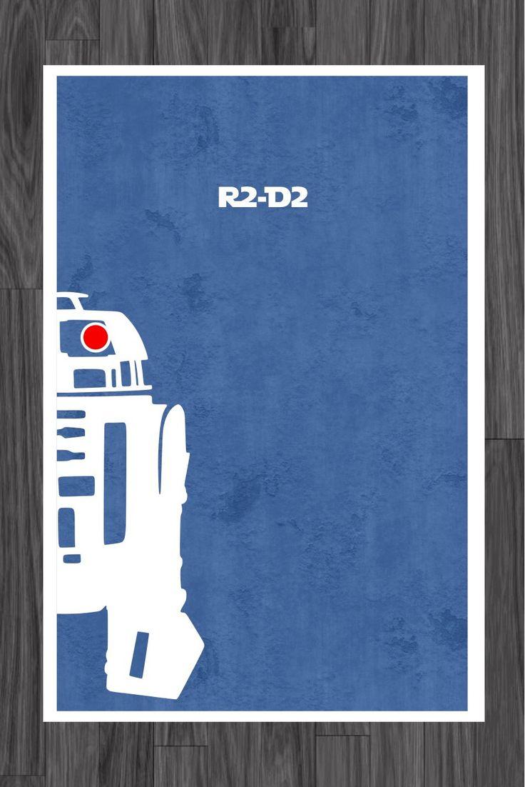 Star Wars Art Poster of R2-D2 11x17. $14.99, via Etsy.
