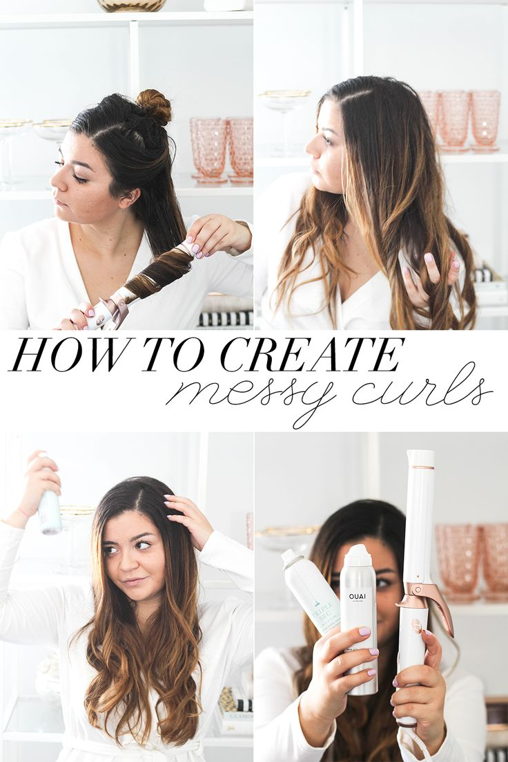 How To Create Messy Natural Curls   Messy Curls Tutorial   How To Use A Curling Iron   Hair Tutorial