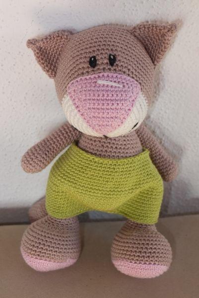 Amigurumi, Crochet kitty, cat, gehäkelte Katze, Crochet pattern (Etsy) / Häkelanleitung: https://www.etsy.com/de/listing/181094019/crochet-pattern-cat-with-a-big-nose-35