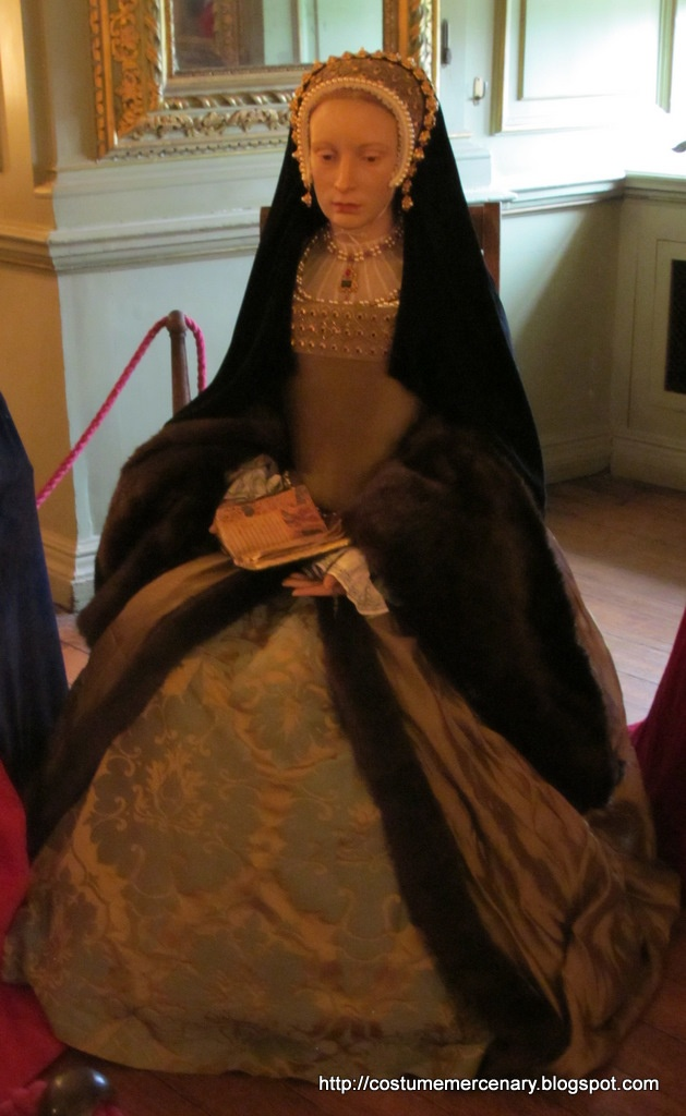 Katheryn Howard wax figure at Madame Tussaud's in London. 5th wife of Henry VIII.