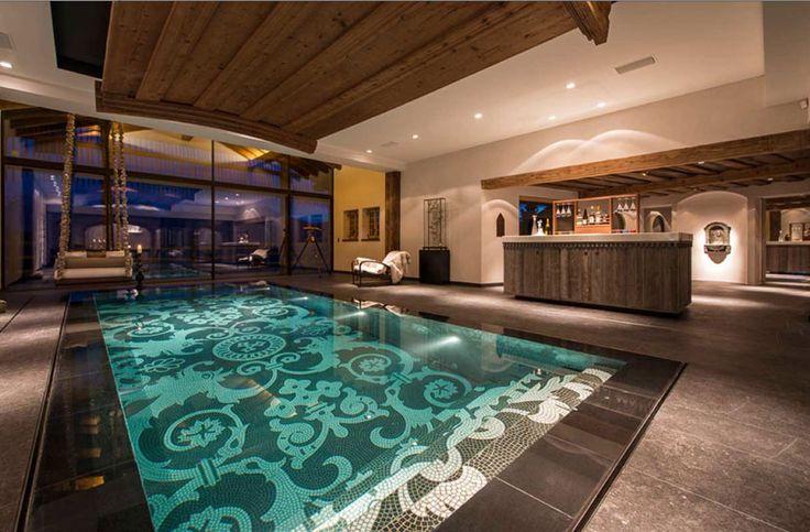 Stunning moving floor swimming pool - down