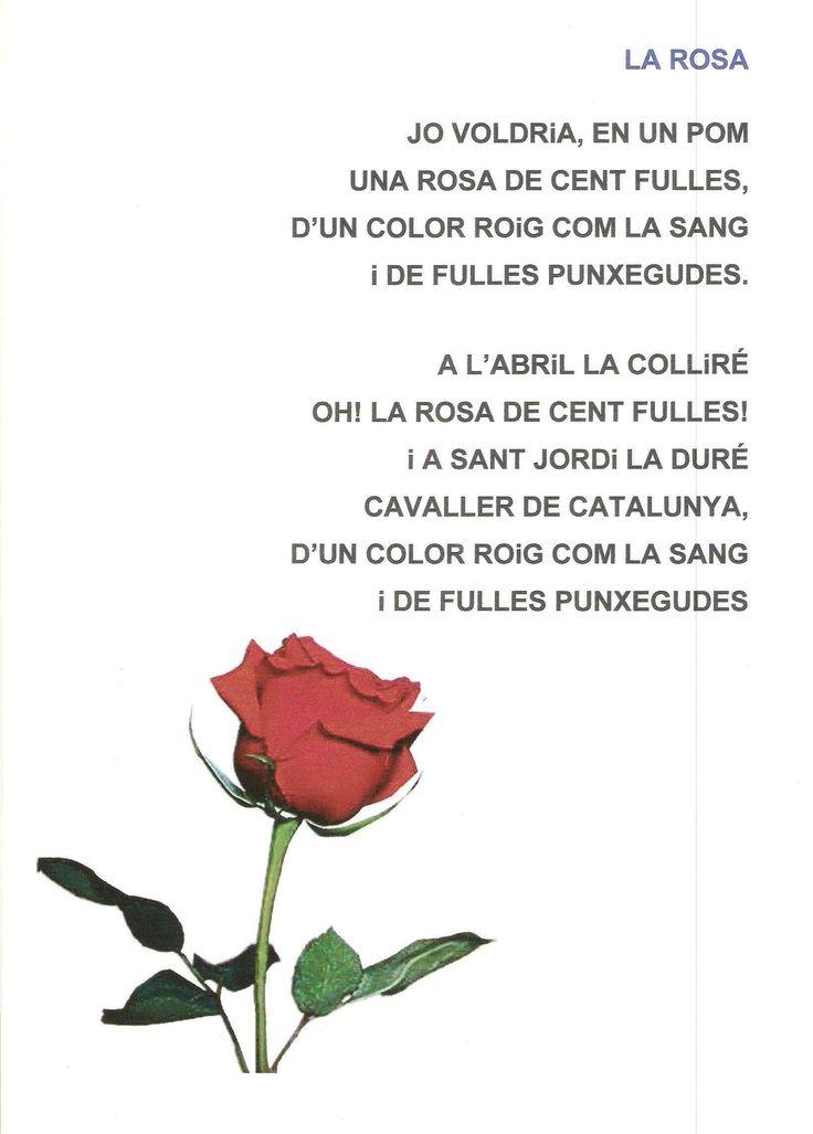 La mayoría de poetas escribieron algún poema que puedes utilizar también para los niños. Pin en Sant Jordi